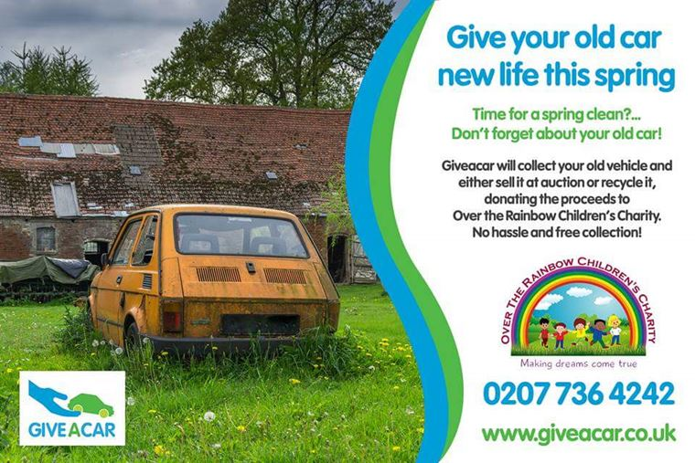 Over The Rainbow Children S Charity Donate Your Old Car